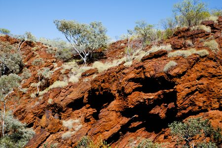 australian outback: Iron Ore Rich in Hematite - Australian Outback Stock Photo