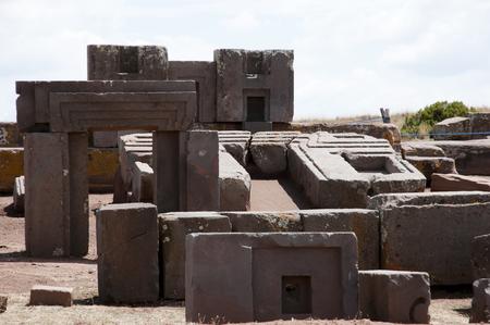 indent: Puma Punku Stone Blocks - Bolivia