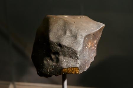meteorite: Chondrite Meteorite Stock Photo