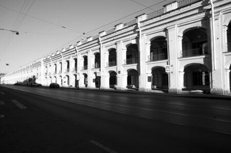 st  petersburg: Main Street in St Petersburg - Russia Stock Photo