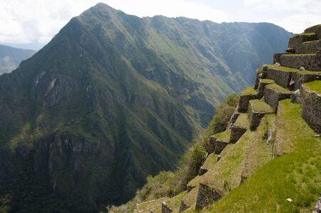 steep: Machu Picchu Steep Terraces - Peru