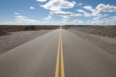 40: Highway 40 - Patagonia - Argentina Stock Photo