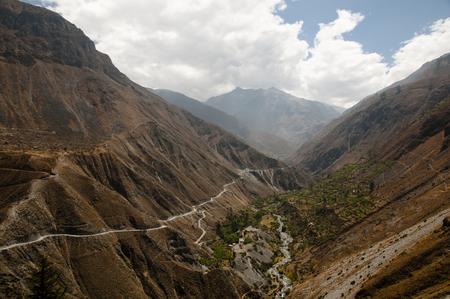 dangerous road: Dangerous Road to San Pedro de Casta - Peru