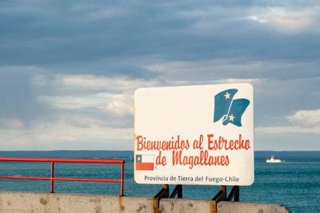 pannel: Magellan Strait Welcome Sign (Bienvenidos al Estrecho de Magellanes) - Chile