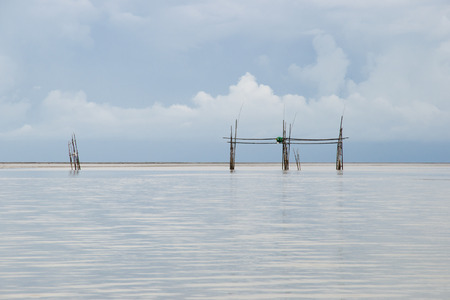 and the stakes: Fishing Stakes - Borneo - Malaysia