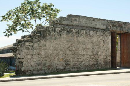 slaves: Old City Wall - Havana - Cuba Stock Photo