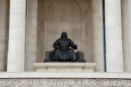 khan: Genghis Khan - Mongolia Stock Photo