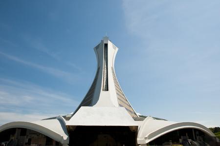 モントリオール, カナダ - 2015 年 5 月 18 日:「オリンピック スタジアム 1976 夏ゲームために建てられました。カナダの席数で最大のスタジアムです。