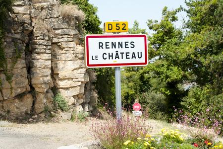 chateau: Rennes le Chateau Village Sign - France