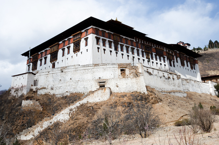 bhutan: Rinpung Dzong - Paro - Bhutan Stock Photo