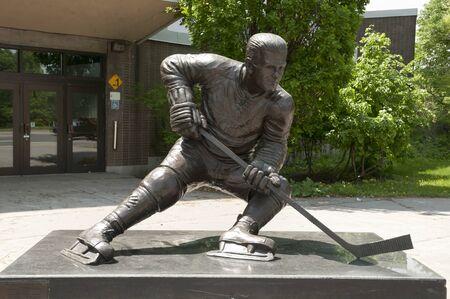 richard: Maurice Richard Statue - Montreal - Canada Stock Photo