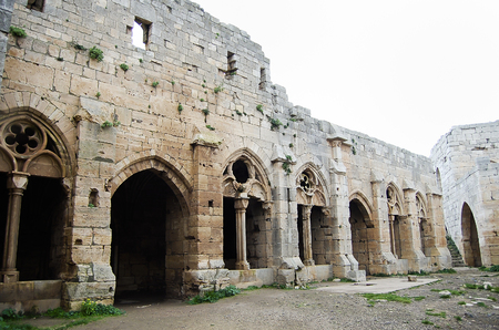 hill of the king: Krak des Chevaliers Castle Ruins - Syria Editorial