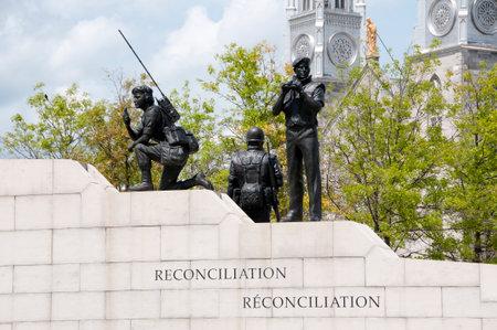 reconciliation: Reconciliation: The Peacekeeping Monument - Ottawa - Canada Editorial