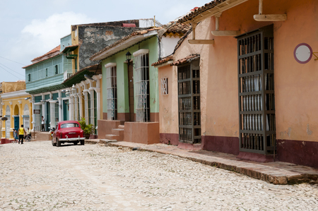 cobble: Cobble Street - Trinidad - Cuba Stock Photo