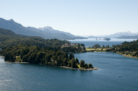 huapi: Nahuel Huapi Lake - Bariloche - Argentina Stock Photo