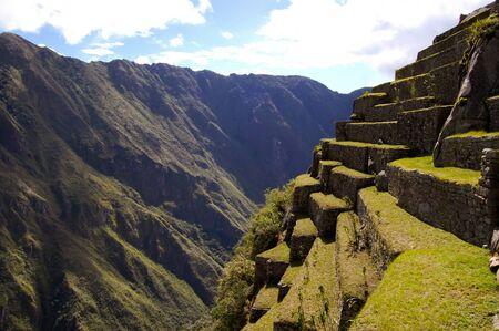 Machu Picchu Steep Terraces - Peru