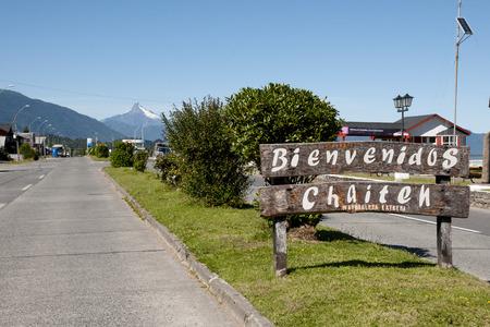 -チリのチャイテンの町に署名 写真素材 - 60411994