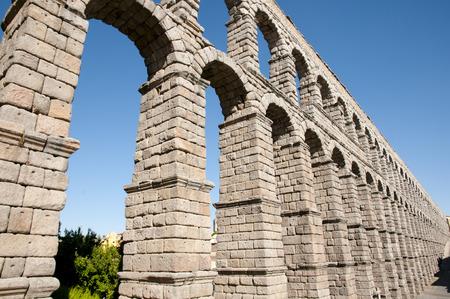 segovia: Aqueduct of Segovia - Spain Stock Photo