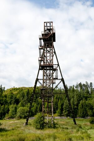 shaft: Old Mine Shaft Tower - Banska Stiavnica - Slovakia