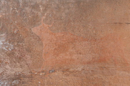 先史時代の洞窟絵画のアルバラシン - スペイン 写真素材 - 62769001