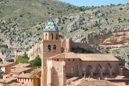 santas village: Albarracin Cathedral - Spain Stock Photo