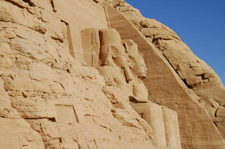 abu simbel: King Ramses II - Abu Simbel Temple - Egypt Stock Photo