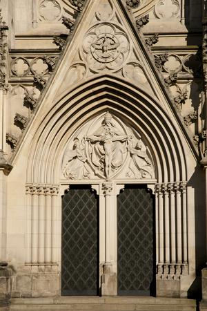 olomouc: Saint Wenceslas Cathedral Door - Olomouc - Czech Republic Stock Photo