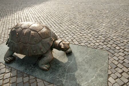 olomouc: Turtle Statue - Olomouc - Czech Republic Stock Photo