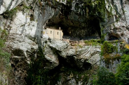 covadonga: Holy Cave of Covadonga - Spain Stock Photo