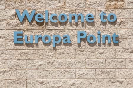 europa: Europa Point Sign - Gibraltar