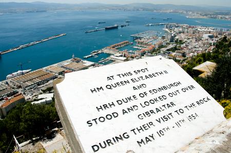plaque: Queen Elizabeth II Placa - Gibraltar
