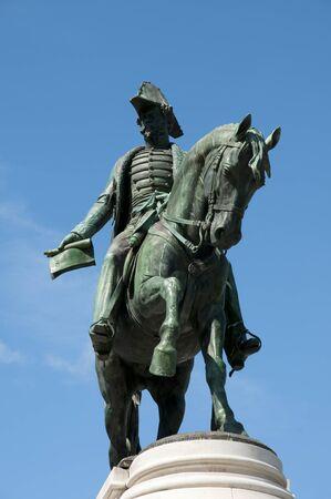 dom: Dom Pedro IV Statue - Porto - Portugal Banque d'images