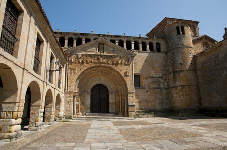 santas village: Colegiata & Claustro de Santa Juliana - Santillana del Mar - Spain Stock Photo