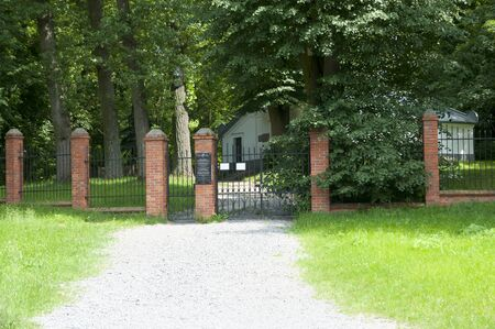 cemetary: Jewish Cemetary Entrance - Lezajsk - Poland Stock Photo