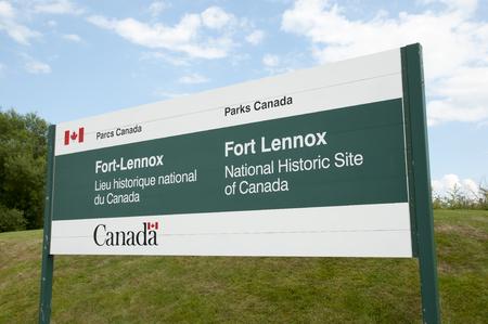 noix: Fort Lennox Sign - Quebec - Canada
