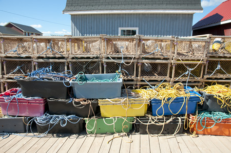 traps: Lobster Traps in North Rustico - Prince Edward Island - Canada