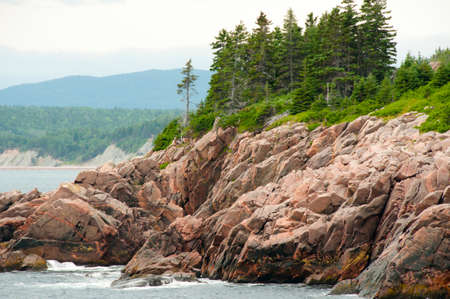 Exposed Granite on Eastern Cabot Trail - Nova Scotia - Canada