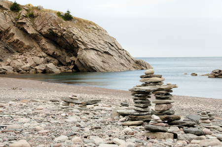 scotia: Inuksuk Cairn at Meat Cove - Nova Scotia - Canada