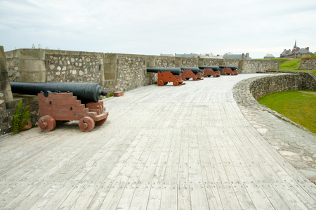 scotia: Fort Louisbourg Artillery - Nova Scotia - Canada Stock Photo