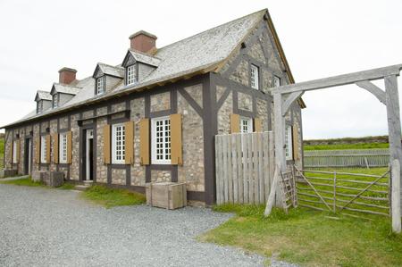 barrack: Fort Louisbourg Barrack - Nova Scotia - Canada Stock Photo