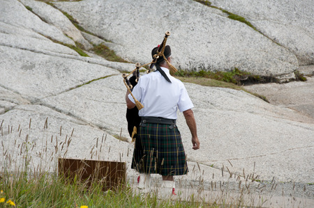 bagpipe: Scottish Bagpipe Player Stock Photo