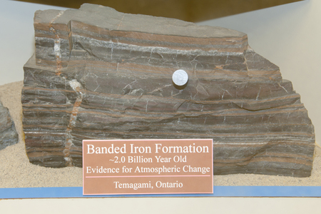 Banded Iron Formation (BIF) Rock with Magnetic Properties