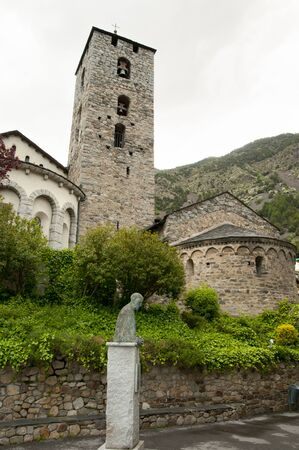 andorra: Sant Esteve Church - Andorra Stock Photo