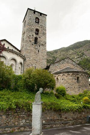Sant Esteve Church - Andorra Stock Photo