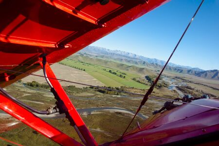Sharp Turn in Biplane