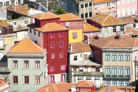 case colorate: Colorful Houses - Porto - Portogallo Archivio Fotografico
