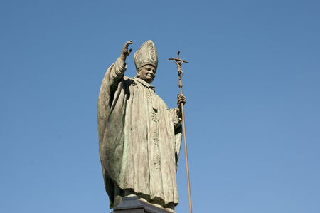 pope: Pope John Paul II Statue - Spain Stock Photo