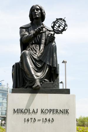 Nicolas Copernic Statue - Montreal - Canada Imagens