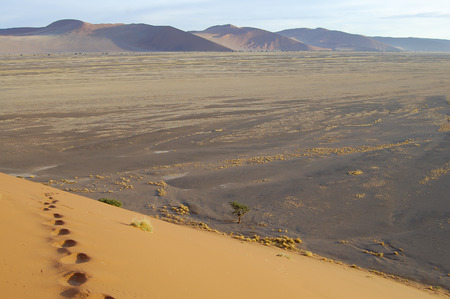 dunes: Sand Dunes - Sossusvlei - Namibia Stock Photo