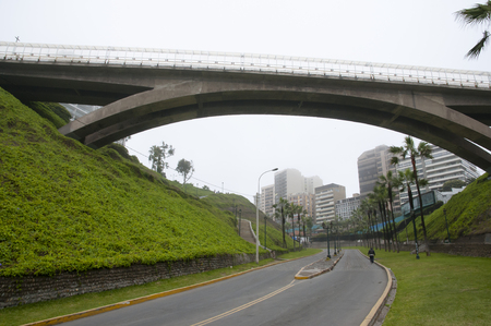 lima: Villena Bridge - Lima - Peru Stock Photo
